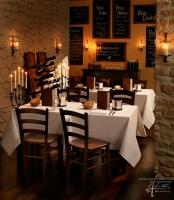 Steinwandgestaltung in der Gastronomie