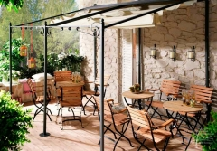 Steinwand-mediterran-Florina-Terrasse