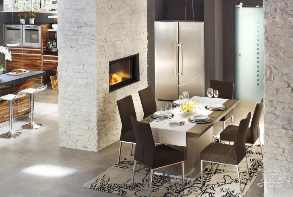 Raumdesign wohnzimmer rot for Raumgestaltung stein dresden