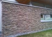 Fassadengestaltung mit Steinpaneelen
