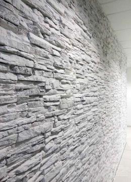 Steinwand im Detail