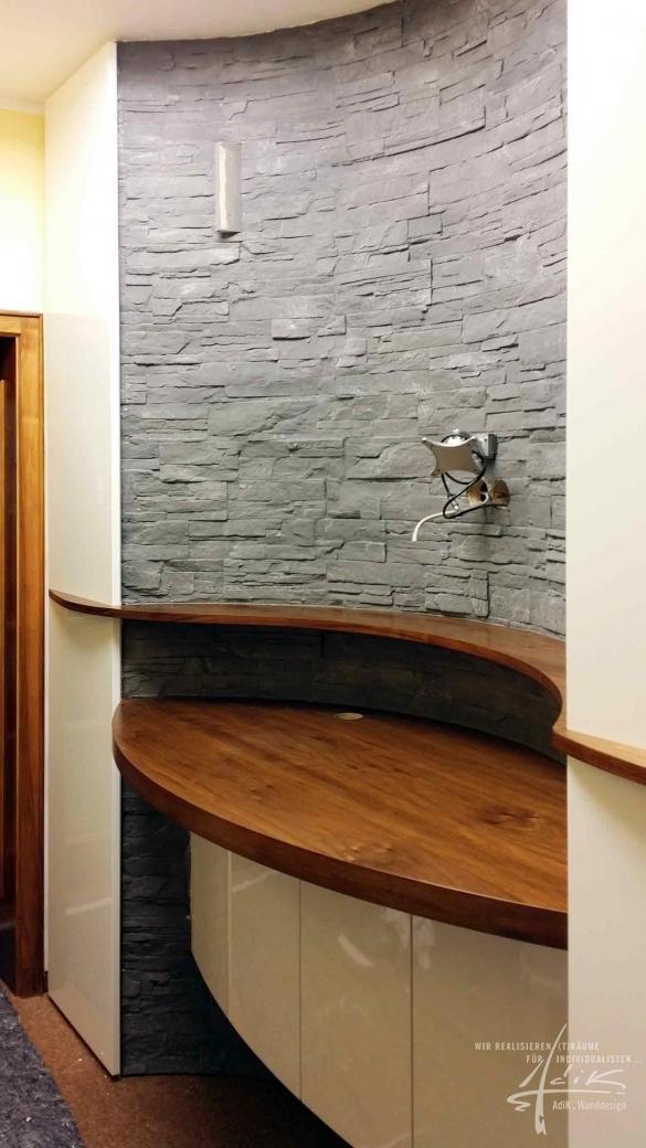 Fantastisch ... Im Hotelzimmer Oder Im Wohnzimmer, Im Lobbybereich Oder Auch Im  Restaurant. Eine Wunderschöne Moderne Steinwand Mit Vielen Kleinen Details!