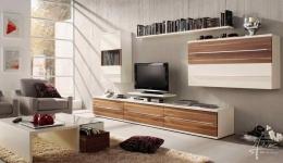 Coole Betonwand im Wohnzimmer