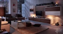 Im Wohnzimmer am Abend