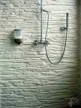 Schiefer in der Dusche