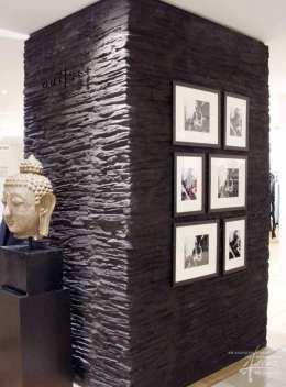 Steinwand schwarz im Shop