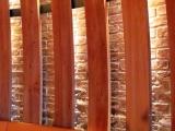 Ziegelstein im Lokal mit Detail