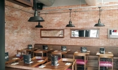 Designwand im Restaurant