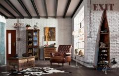 Weiße Steinpaneele im Wohnzimmer