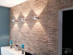 Ziegelwand.Brooklyn im Badezimmer