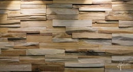 Holzpaneel aus wiederverwertetem Teakholz