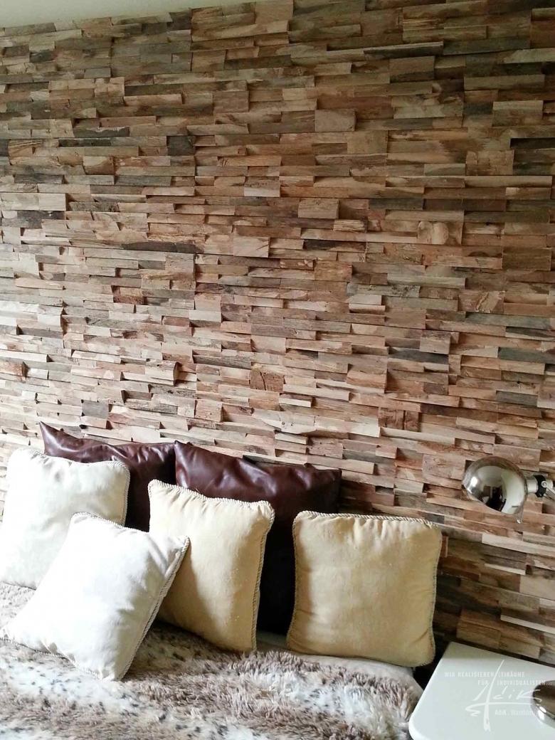 Holzpaneel im Schlafzimmer