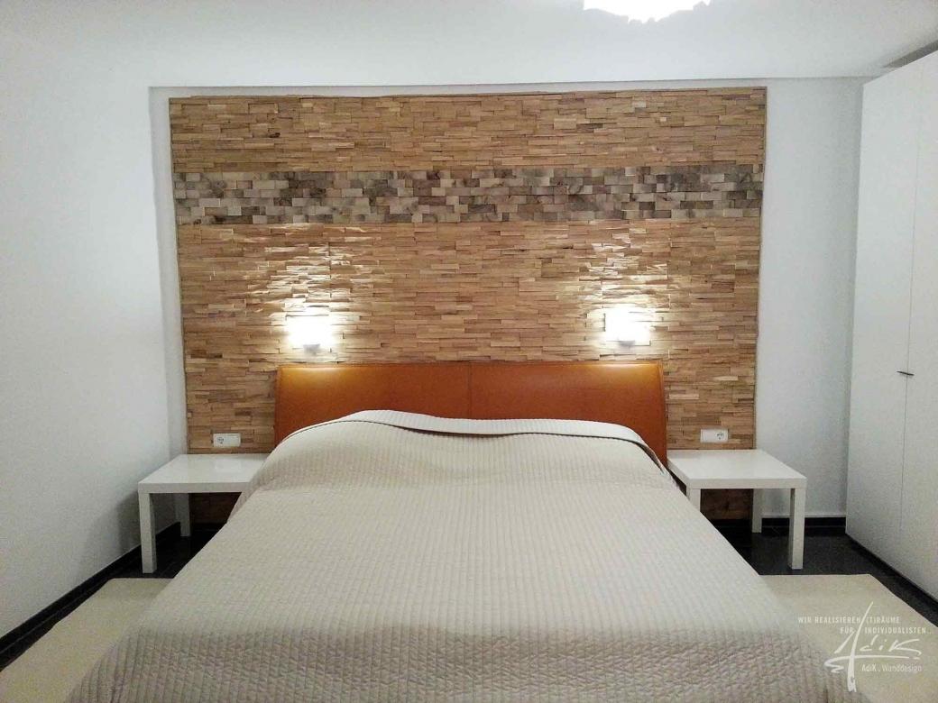 Schlafzimmer Mit Einer Holzwand
