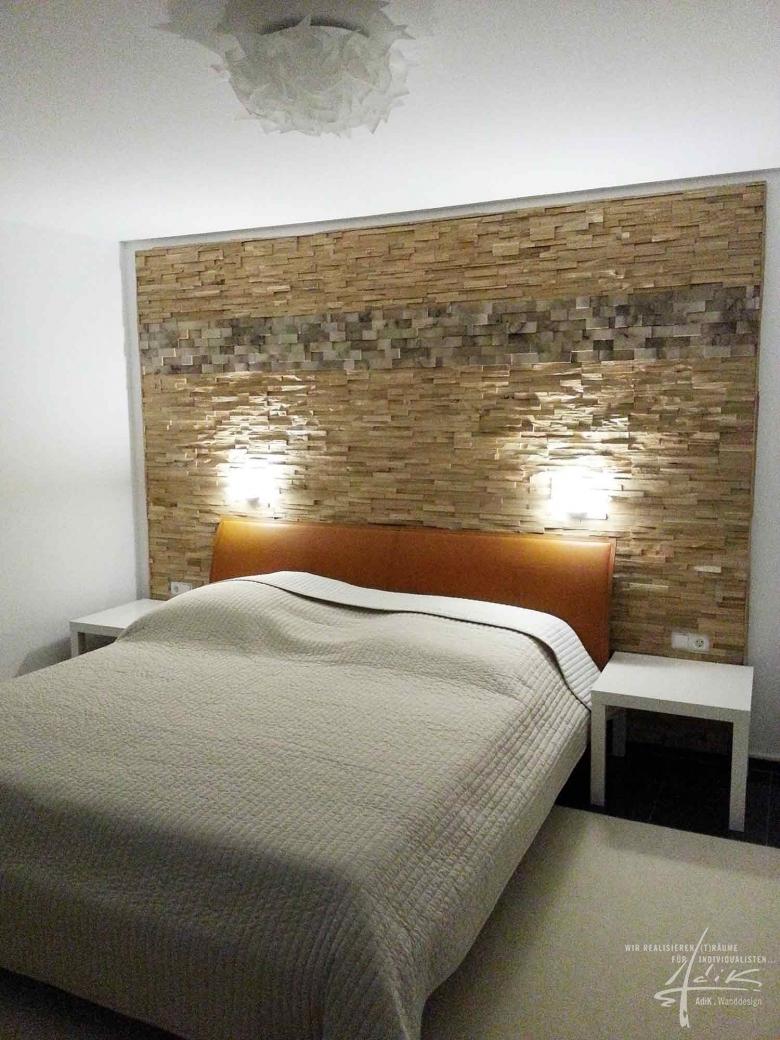 wanddesign aus holz von adik - wanddesign, Schlafzimmer entwurf