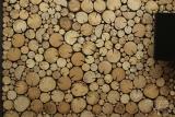 Holzwandpaneel Rundholz Scheiben