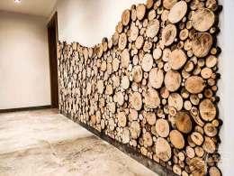 Holzwand Sticks im Detail