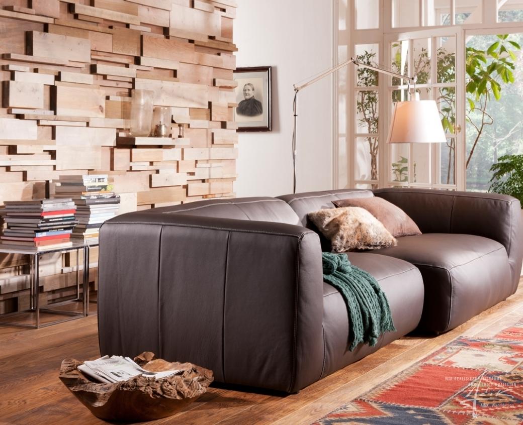 Im Wohnzimmer Steinwand Von AdiK – Wanddesign wohnzimmer design wand ...