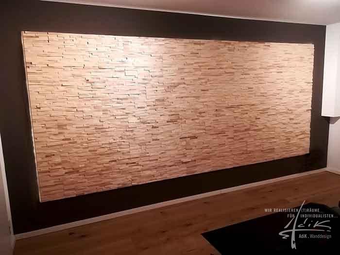 Holzwand Ahorn
