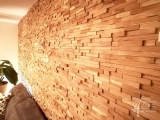 Holzwand Eiche gespalten