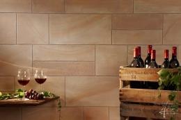 Sandsteintechnik im Weinkeller