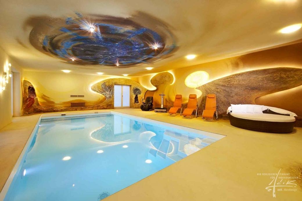 Schwimmbad-Gestaltung