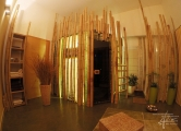 Sauna mit Bambusgestaltung