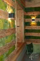 Hügelmoos und Holz