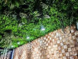 Kunstpflanzen mit HolzBlocks