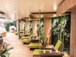 Pflanzenwand am Kreuzfahrtschiff