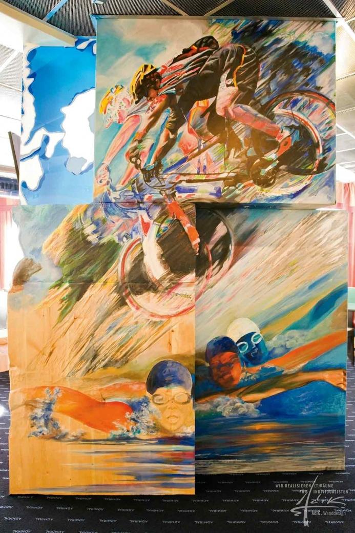 Malerei auf unterschiedlichen Materialien