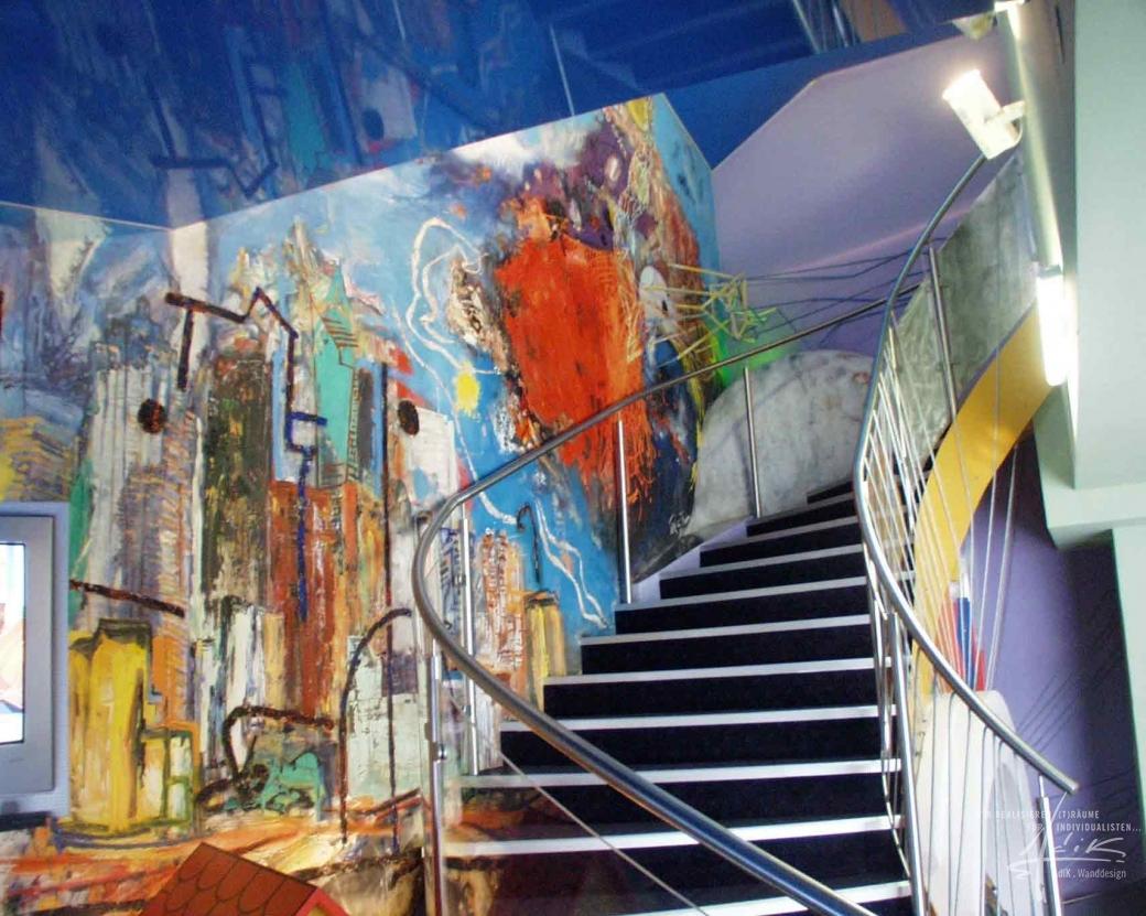 Kunstmalerei direkt auf die Wand gemalt