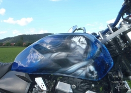 Airbrush am Bike