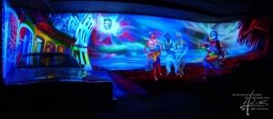 UV-Malerei in einer Disco