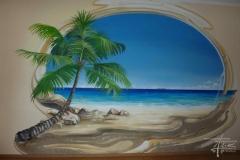 Illusionsmalerei mit Palmen