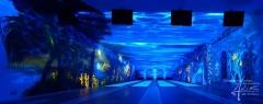 UV-Malerei in der gleichen Kegelbahn