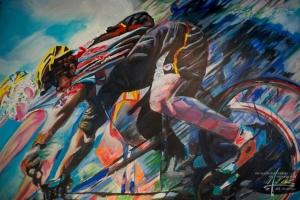 Kunstmalerei auf Leinen