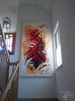 Kunstmalerei im Stiegenaufgang