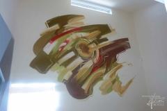 Wandmalerei in der Garderobe