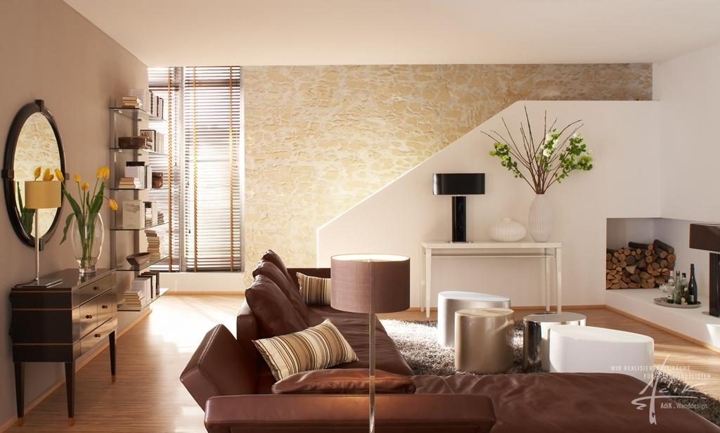 Kunststeinwand Im Wohnzimmer