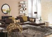 Steinoberflächen im Wohnzimmer