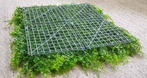 Rückseite eine Kunstpflanzen-Matte
