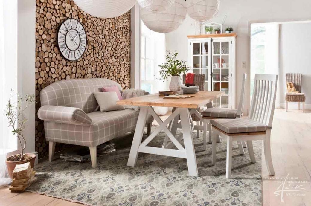 Holzscheiben als wanddeko von adik wanddesign - Sofa fur esszimmer ...